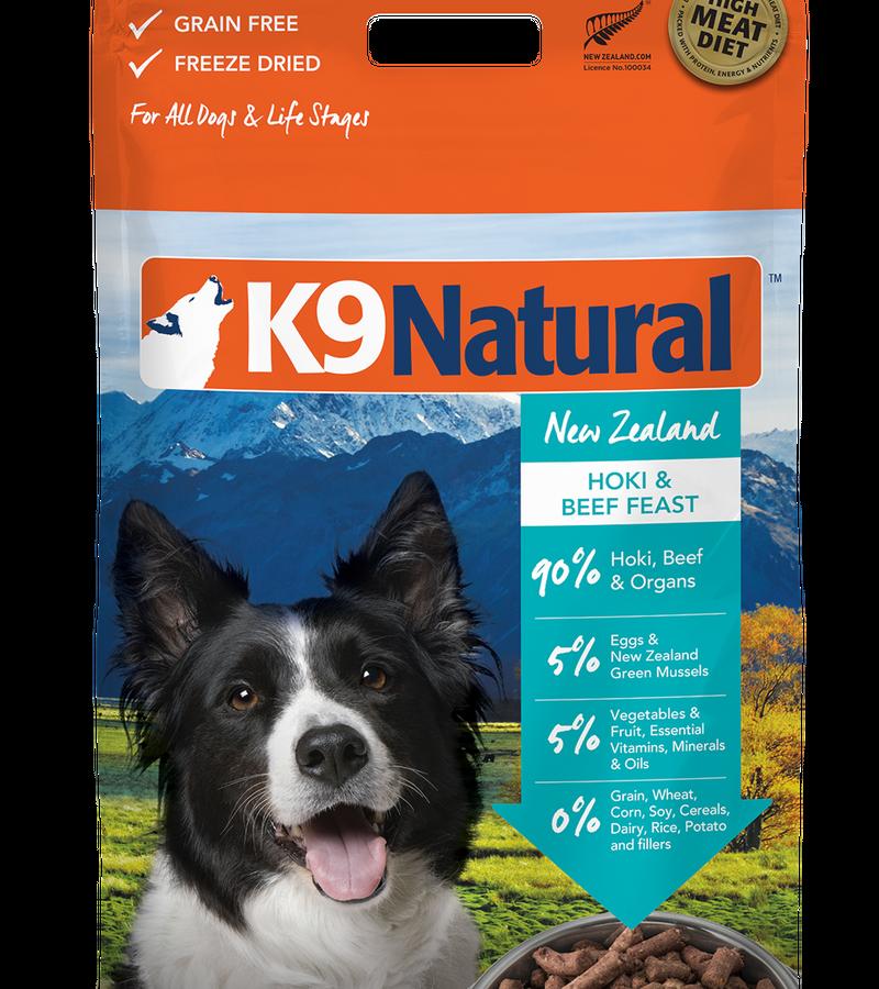 K9 Natural Freeze Dried Hoki & Beef
