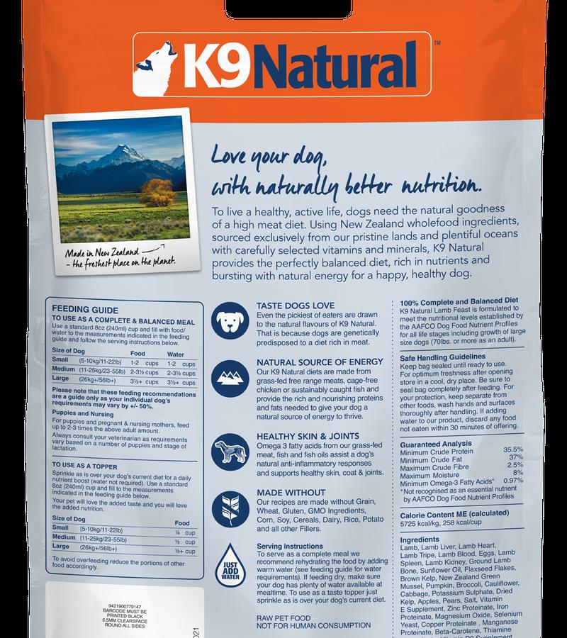 K9 Natural Freeze Dried Lamb