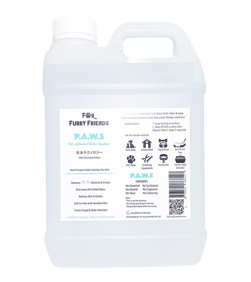For Furry Friends Pet's Activated Water Sanitizer (P.A.W.S) 250ml & 4L