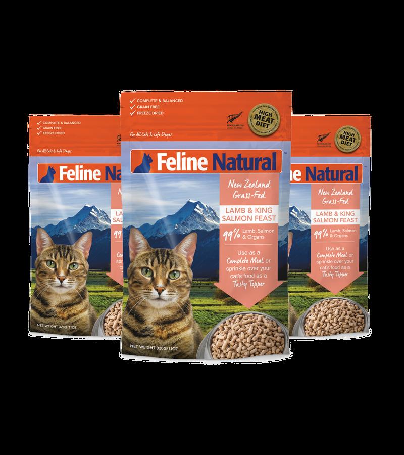 Feline Natural Lamb & King Salmon Feast Freeze Dried