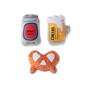 Mini Beer, Dog Squeaky Plush Toy