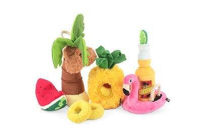 Tropical Paradise Squeaky Plush Dog Toy
