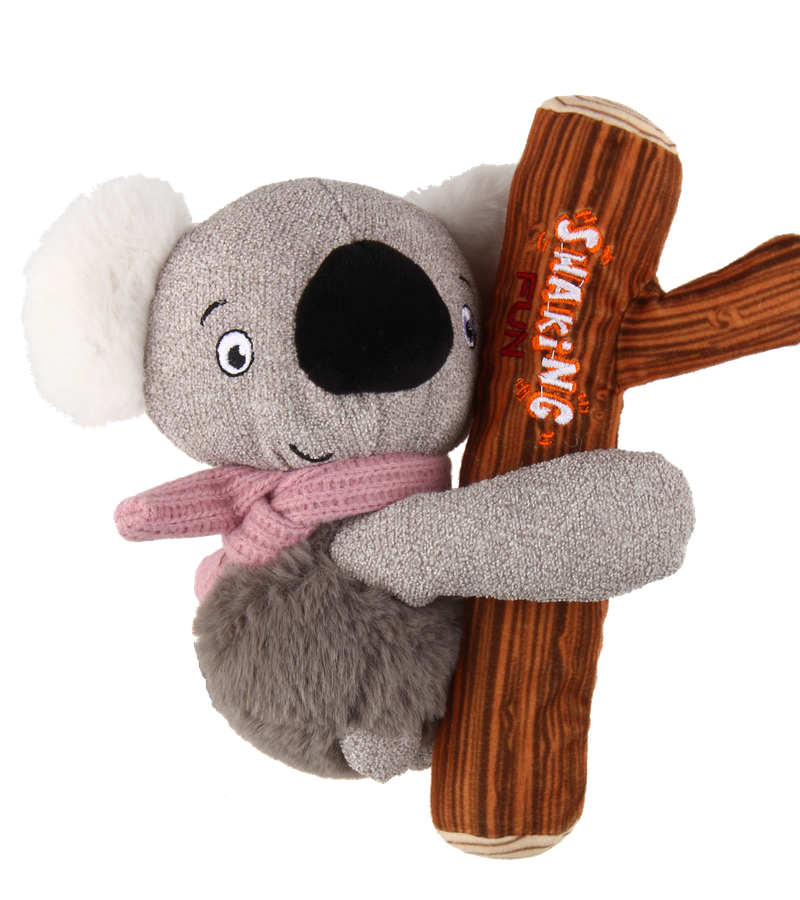 Gigiwi branch plush pet toy with squeaker inside