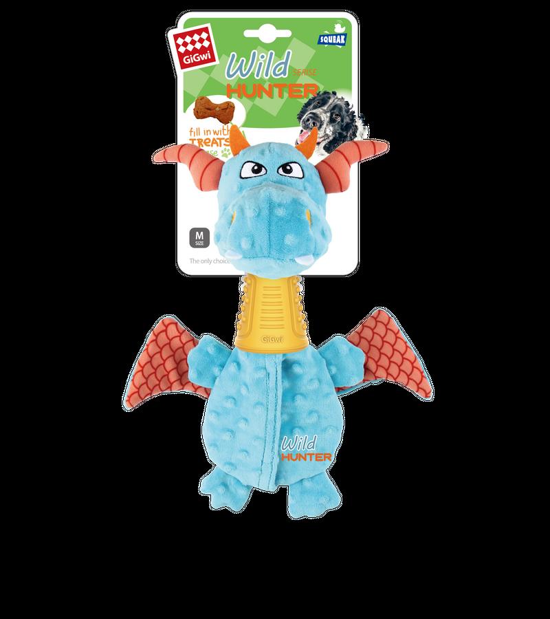 Gigiwi Plush dog toy with TPR Neck