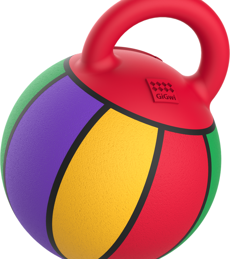 "Gigiwi Jumball Basketball Ball with rubber handle small size 5.5"""