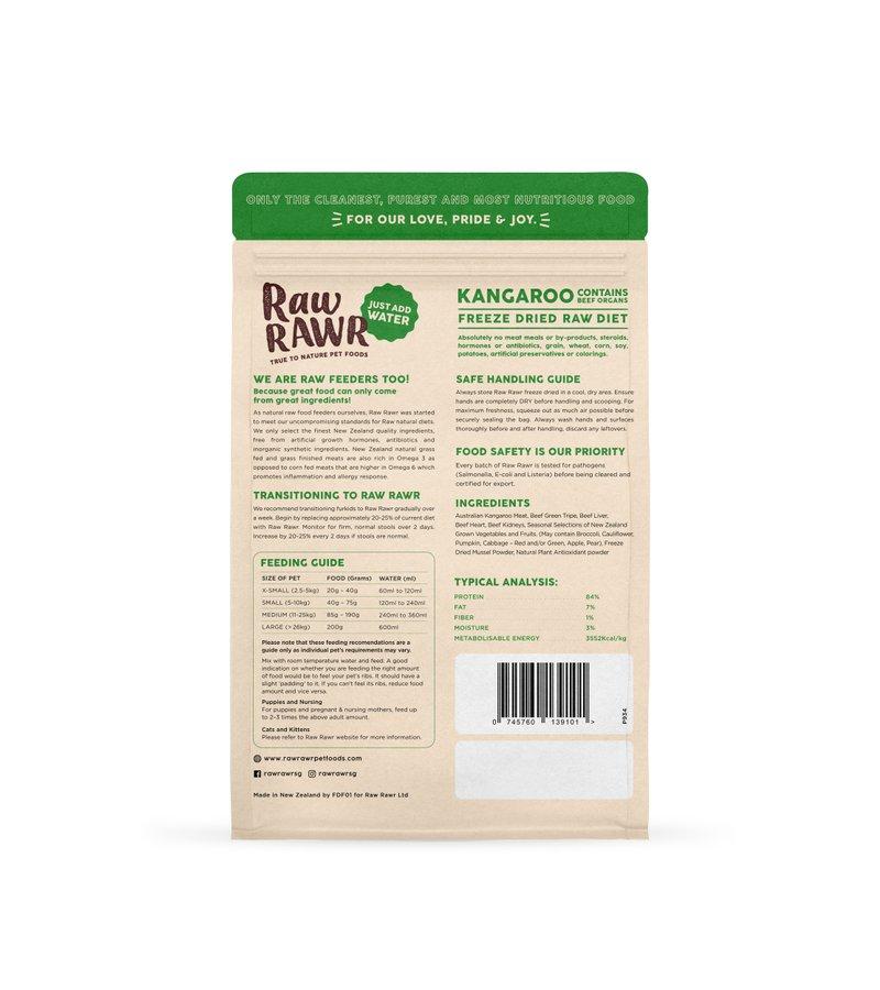 RAWR RAWR Freeze Dried Kangaroo & Beef Balanced Diet