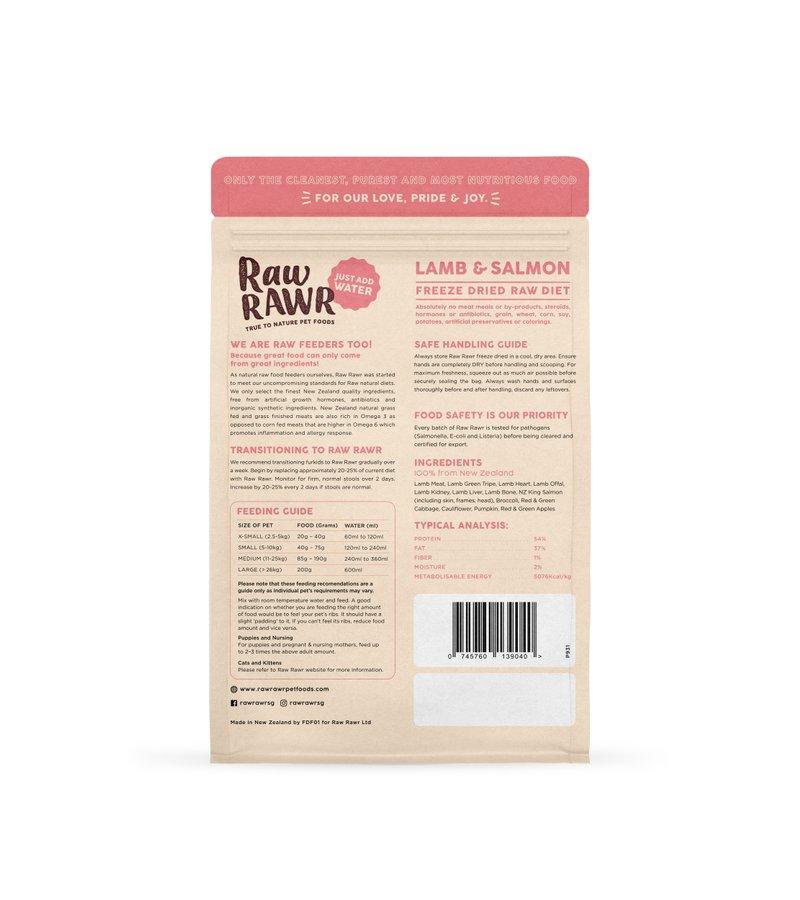 RAWR RAWR Freeze Dried Salmon & Lamb Balanced Diet