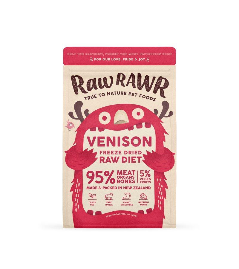 RAWR RAWR Freeze Dried Venison Balanced Diet