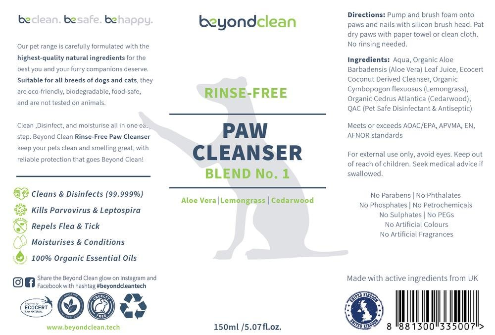 Beyond Clean Rinse-Free Paw Cleanser 150ml