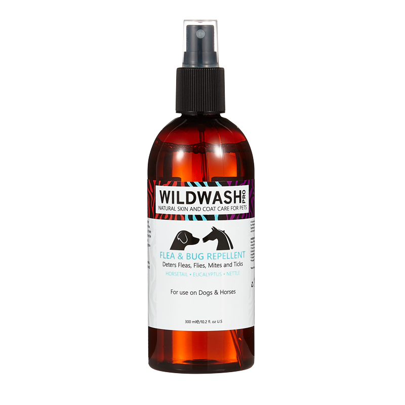 WildWash PRO Flea & Bug Repellent for Dogs and Horses 300ml