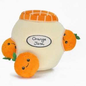 HugSmart Jammy Jam - Orange Jam Burrow Dog Toy