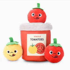 HugSmart Sunday Tomato Can Burrow Dog Toy