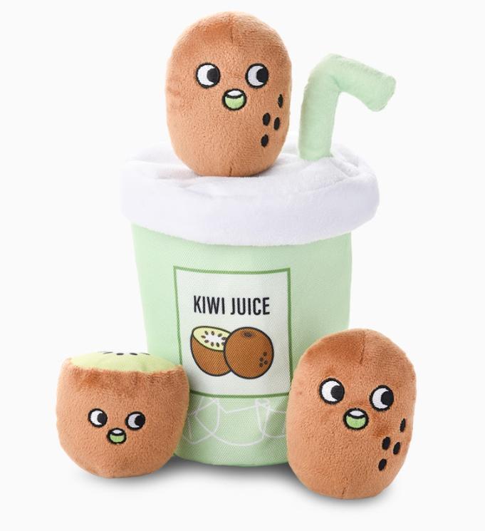 HugSmart Green Sunshine Kiwi Juice Burrow Dog Toy